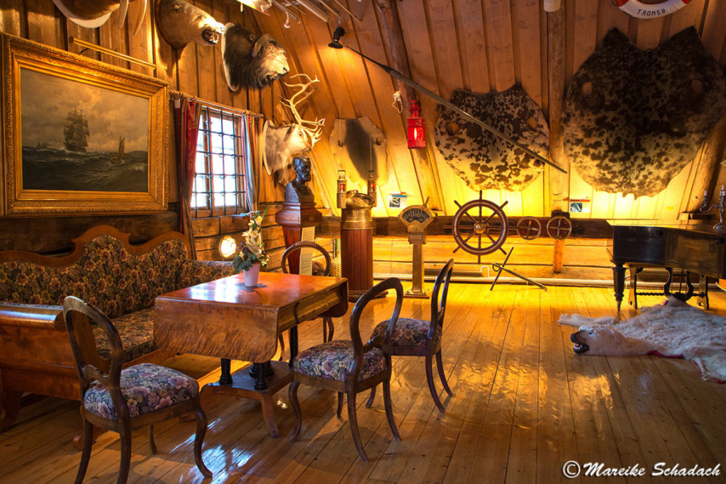 Ausstellungsraum im Polarmuseum Tromsø