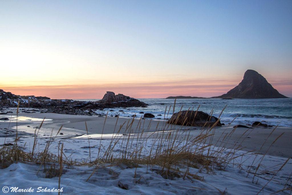 Der Strand bei Bleik ist ein Highlight Winter auf den Vesterålen