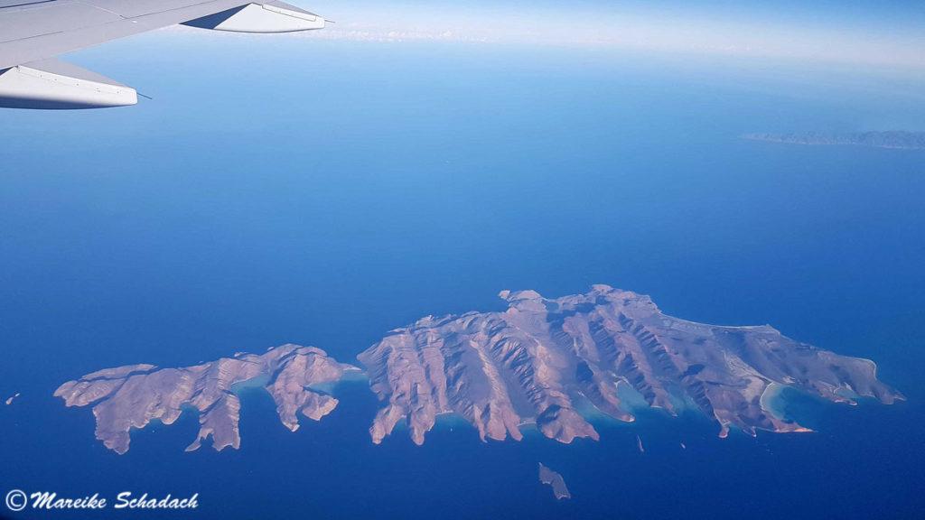 Isla Espíritu Santo la Paz, Mexiko von oben