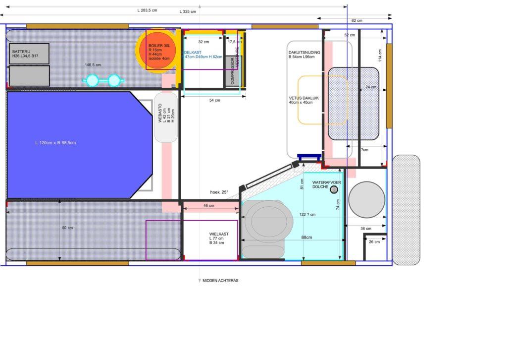 Plan der Innenraumkabine vom Iveco 40.10 WM