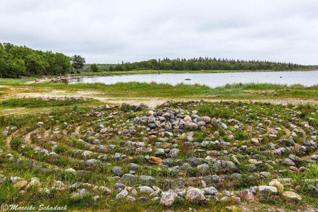 Prähistorisches Steinlabyrinth Solowezki-Inseln