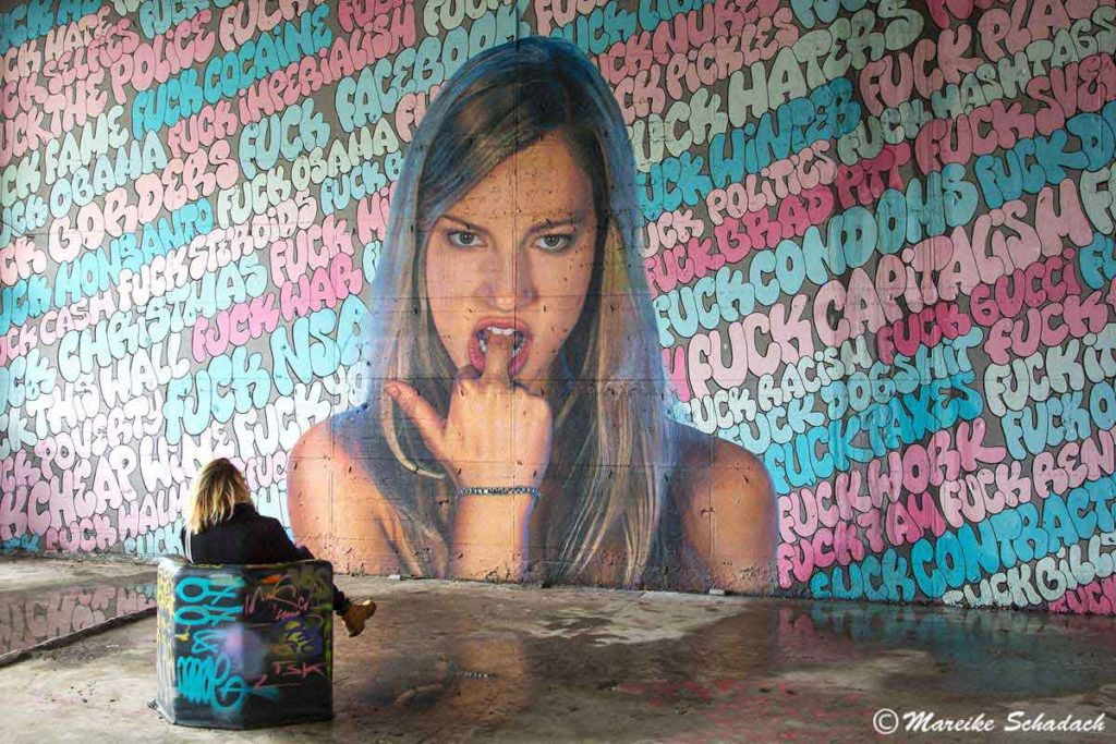 Street Art im Lost Place Abhörstation Teufelsberg Berlin