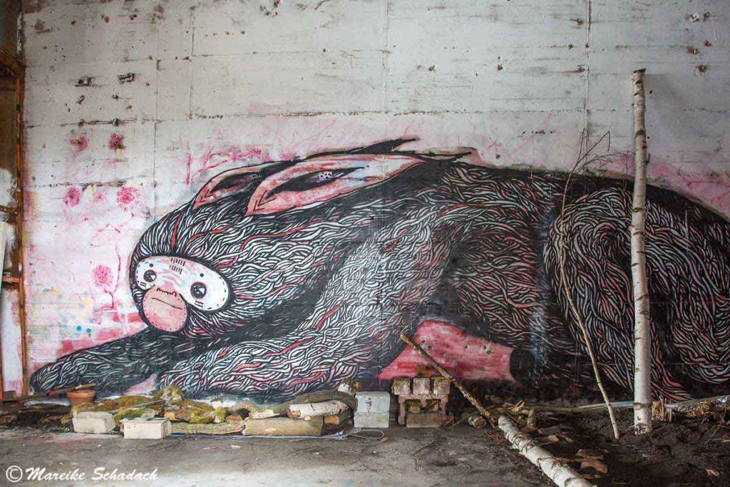 Street Art in der ehemaligen Radarstation am Teufelsberg in Berlin