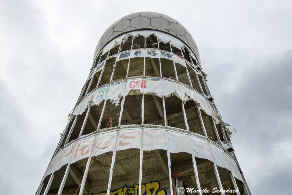 Radom der Abhörstation am Teufelsberg in Berlin