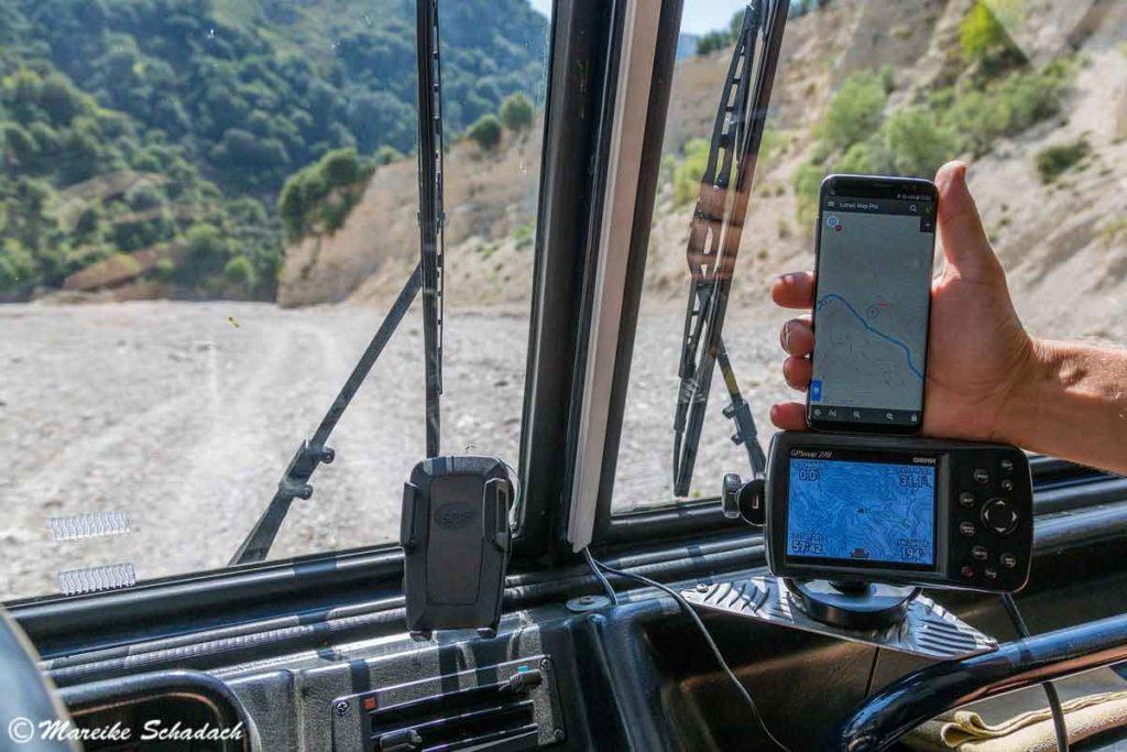 Im ausgetrockneten Flussbett von Tepelene nach Himare war ein Highlight während unseres Roadtrips in Albanien