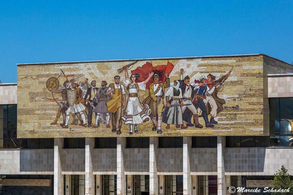 Mosaik das Freiheitskämpfer Tirana, Albanien