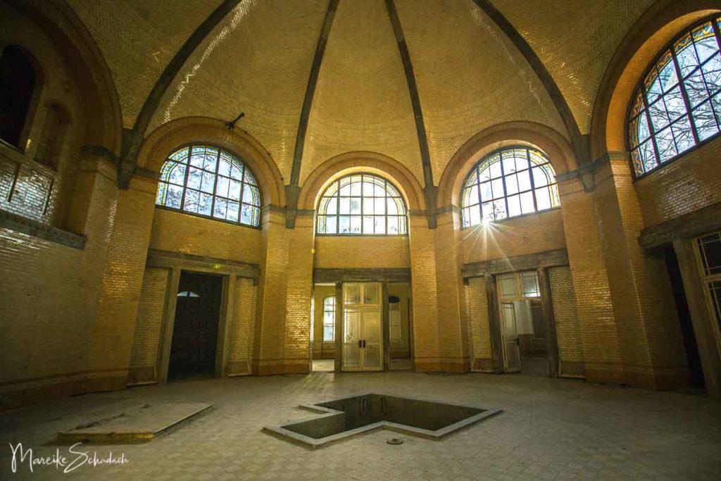 Badehaus des Männersanatoriums in den Beelitz-Heilstätten
