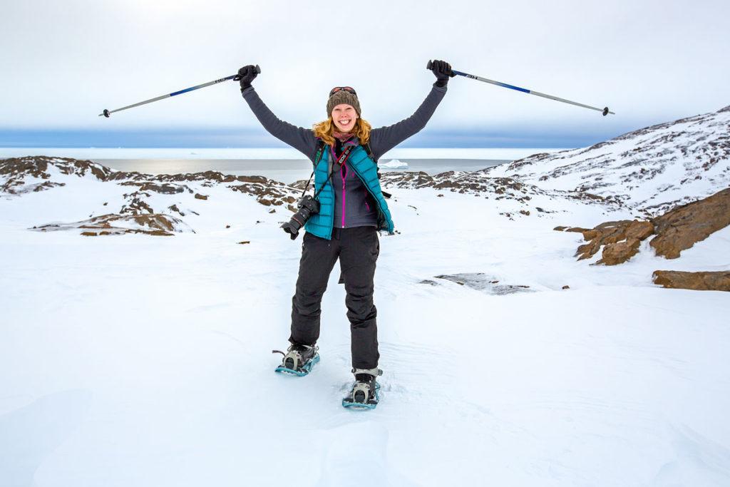 Schneeschuhwandern in Grönland