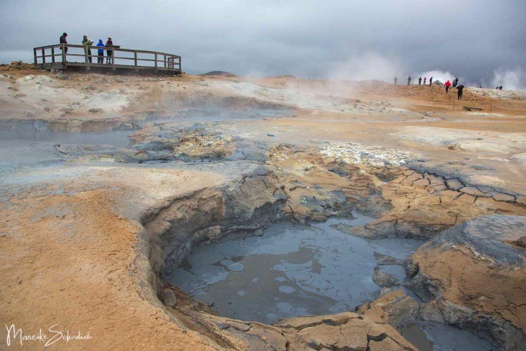 Wandern im Hochtemperaturgebiet Hverarönd am Mývatn