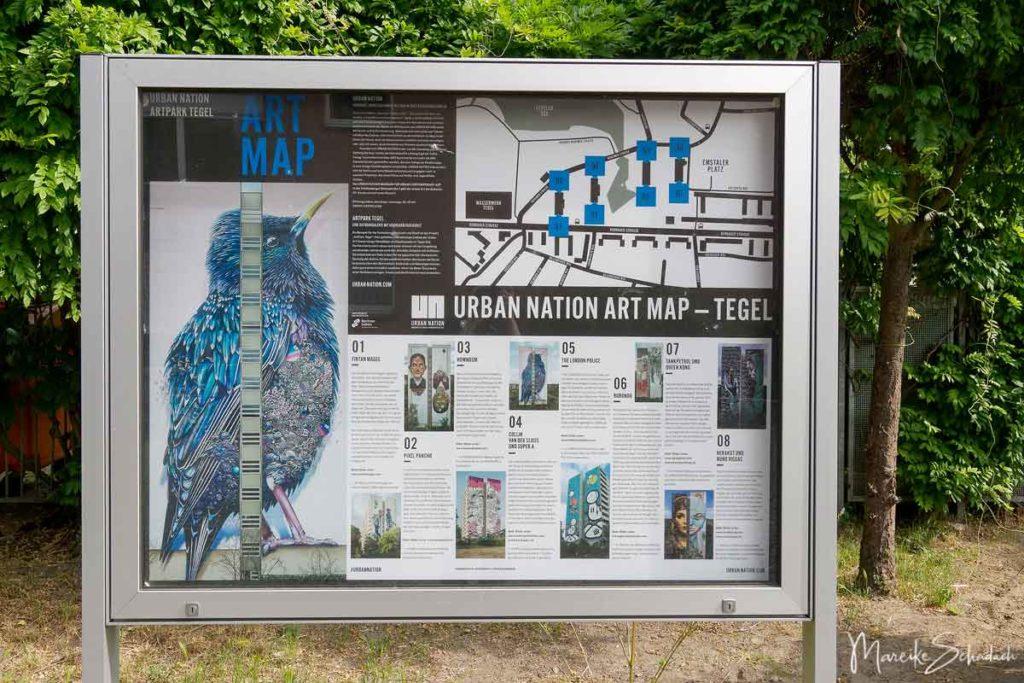 Art Park Tegel, Berlin - Übersichtsplan der Murals