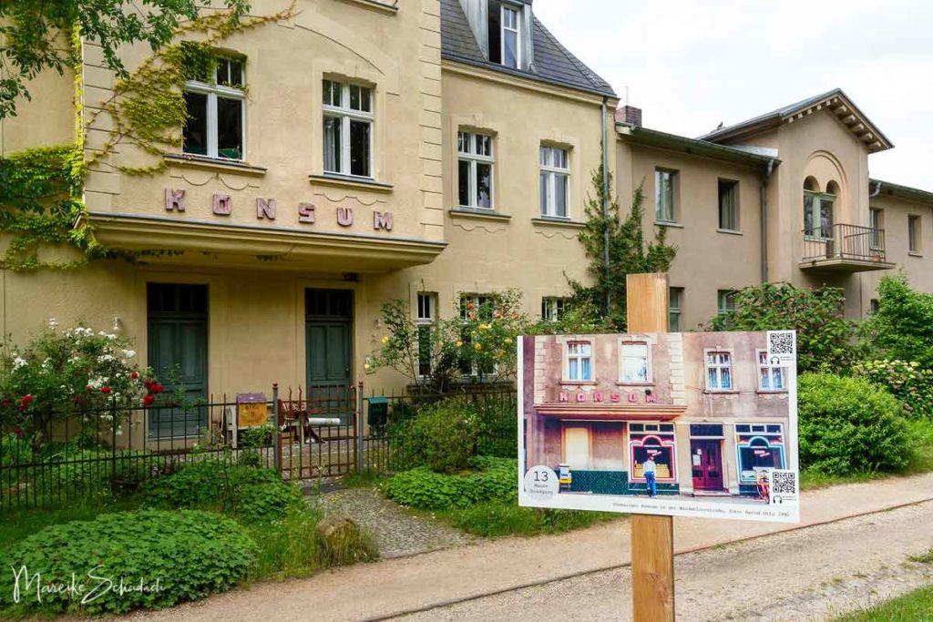 Berliner Mauerweg Highlights - früherer Konsum-Markt