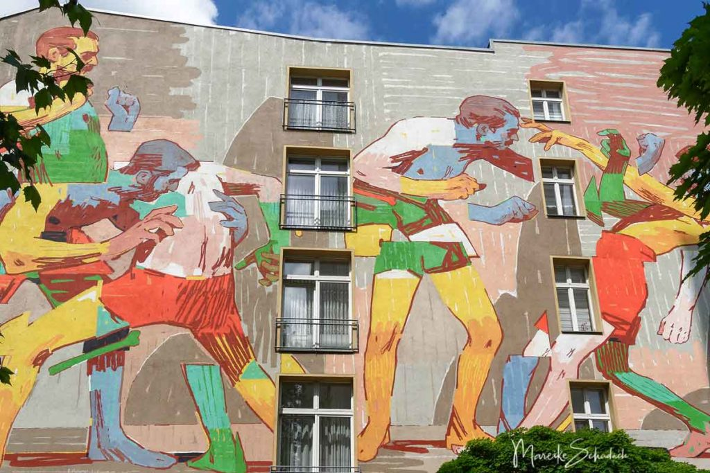 Mural von Mr. Aryz: Wrestlers