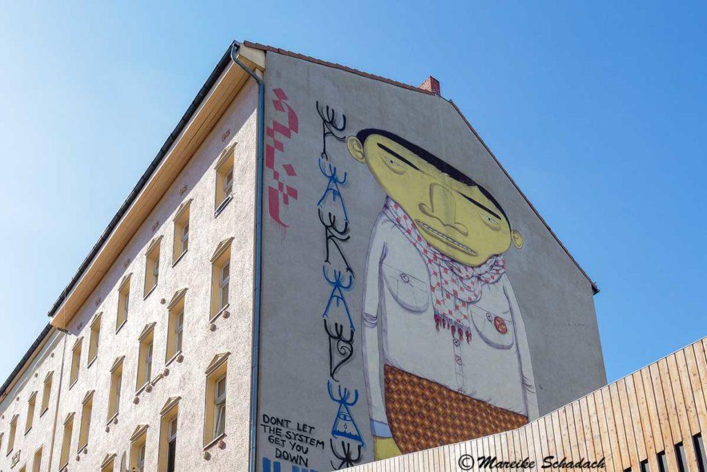 Mural von Os Gêmeos: Yellow Man