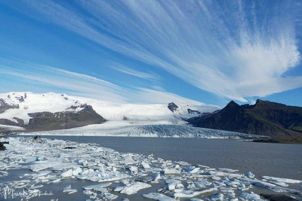 Eisberg in Gletscherlagune in Island