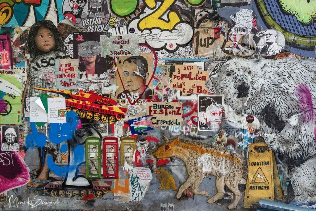 Street Art Hall of Fame beim Kino Intimes -Street Art Map Berlin