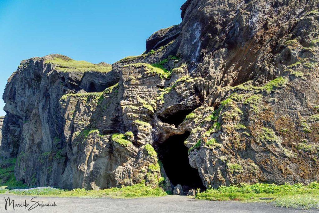 Höhle Hjörleifshöfði Island