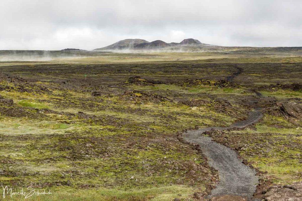 Pfad zu Islands Vulkan Thrihnukagigur