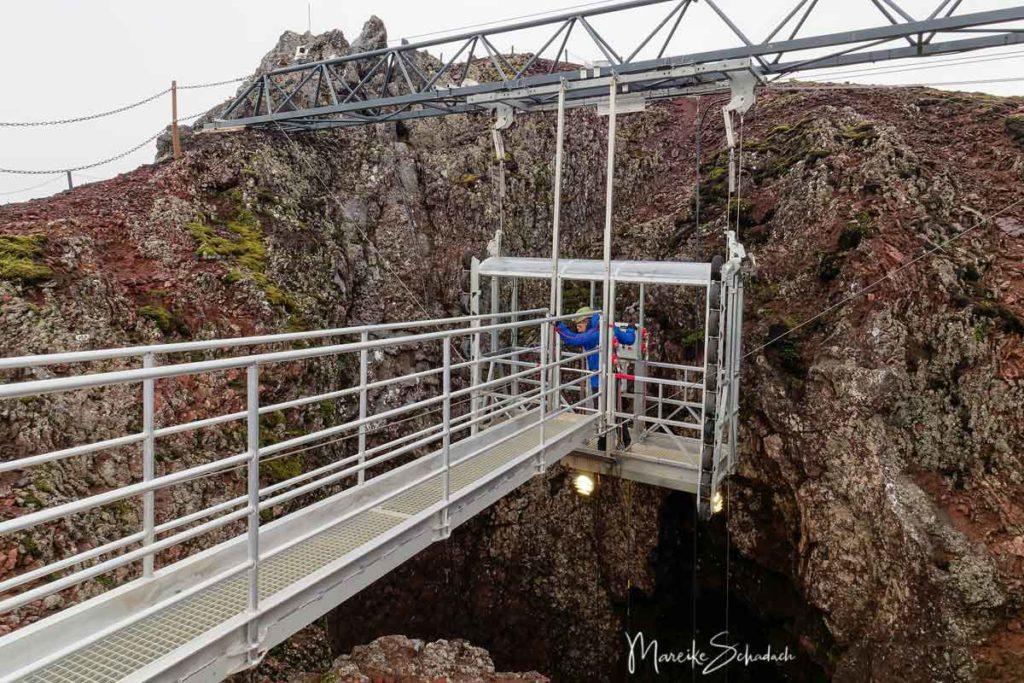 Islands Vulkan Thrihnukagigur von Innen
