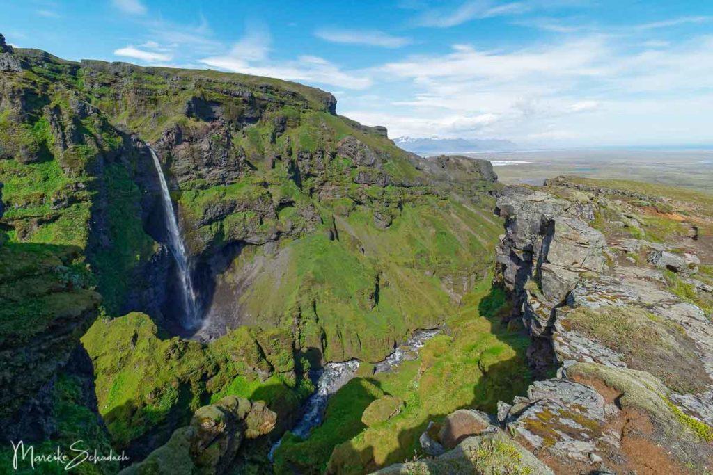 Múlafoss im Múlagljúfur Canyon Island