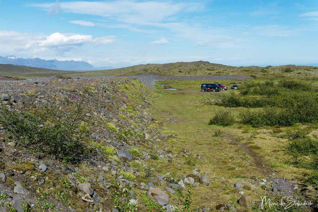 Parkplatz am Múlagljúfur Canyon Island