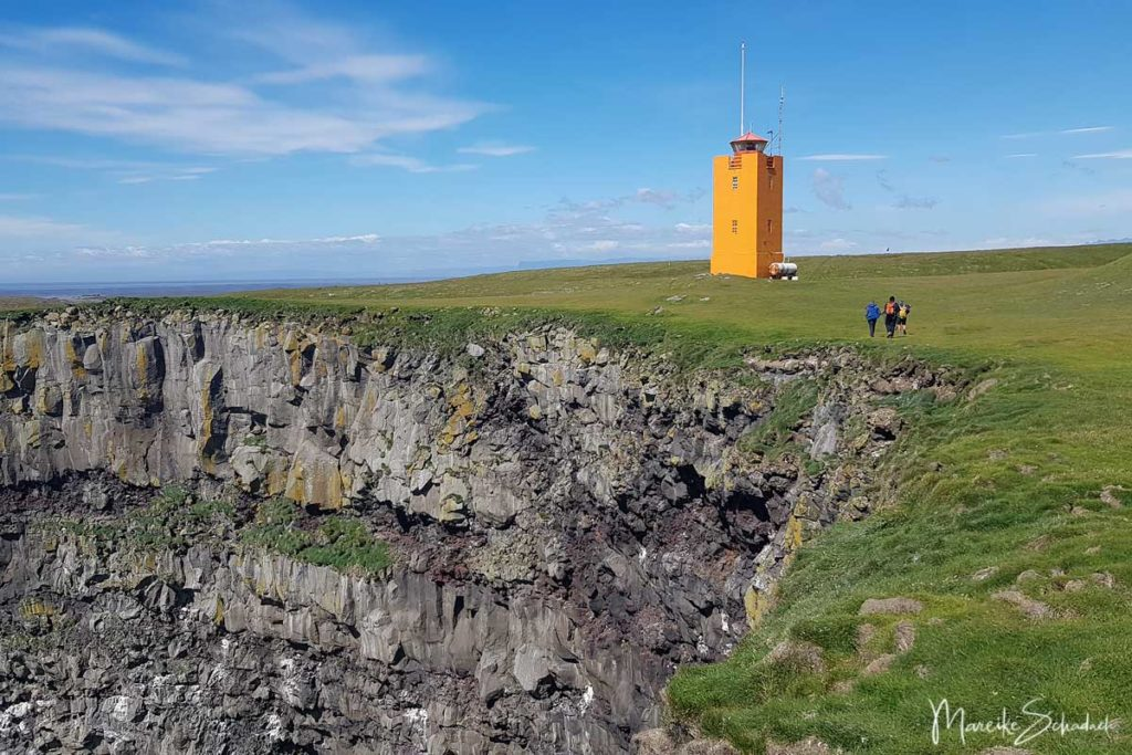 Leuchtturm bei Ingólfshöfði - Island