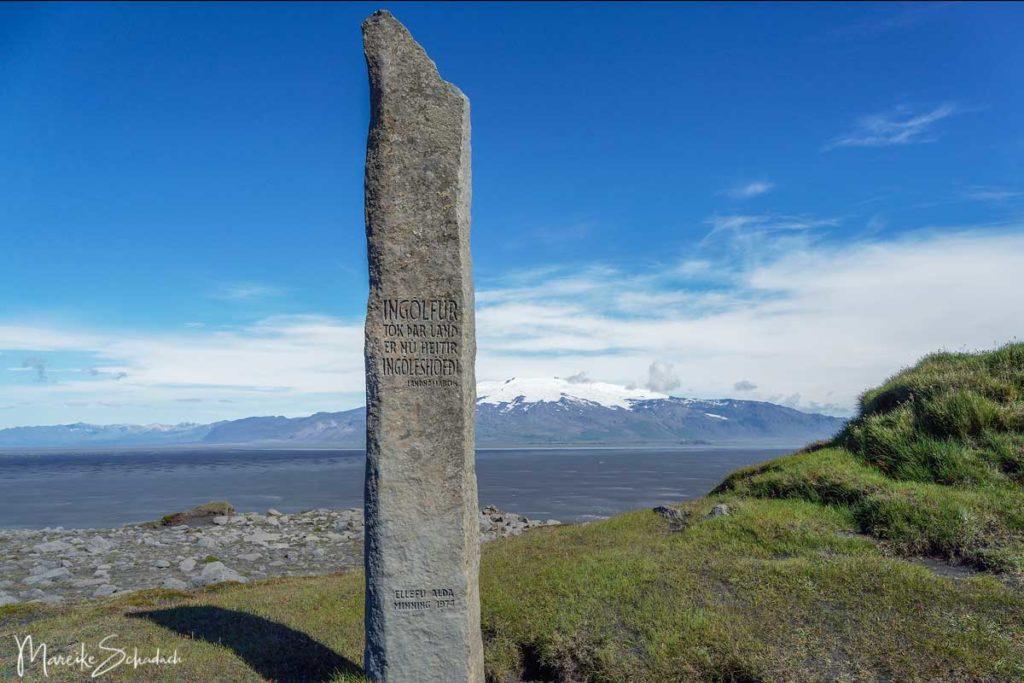 Denkmal bei Ingólfshöfði - Island