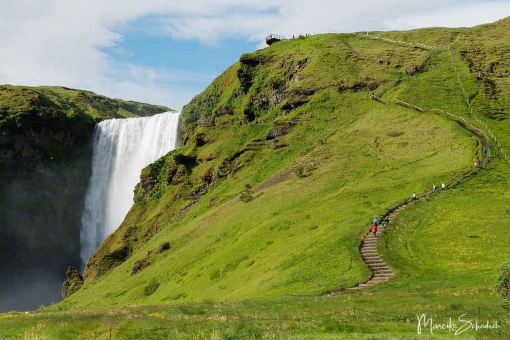 Skógafoss – einer der schönsten Wasserfälle Islands