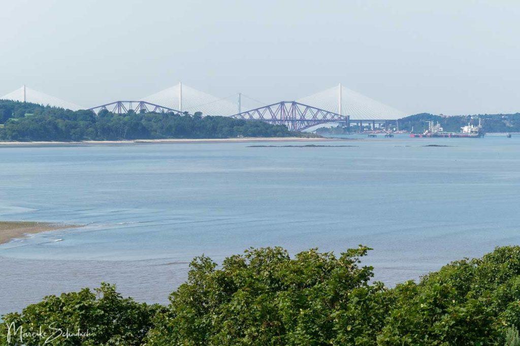 Blick auf die Forth Bridges