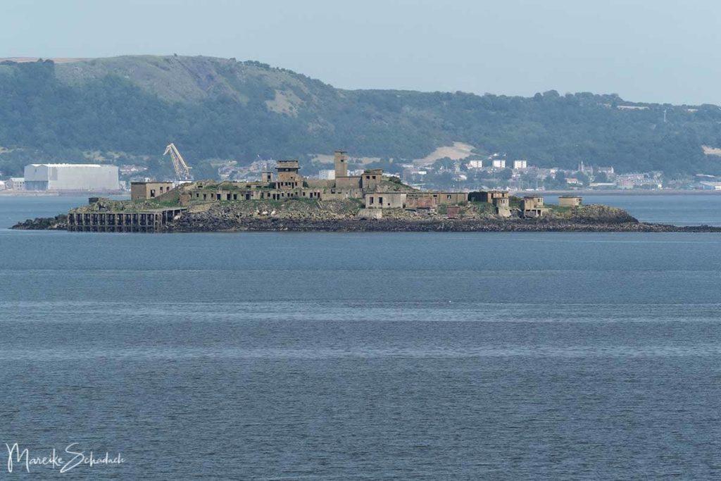 Blick auf die Insel Inchmickery