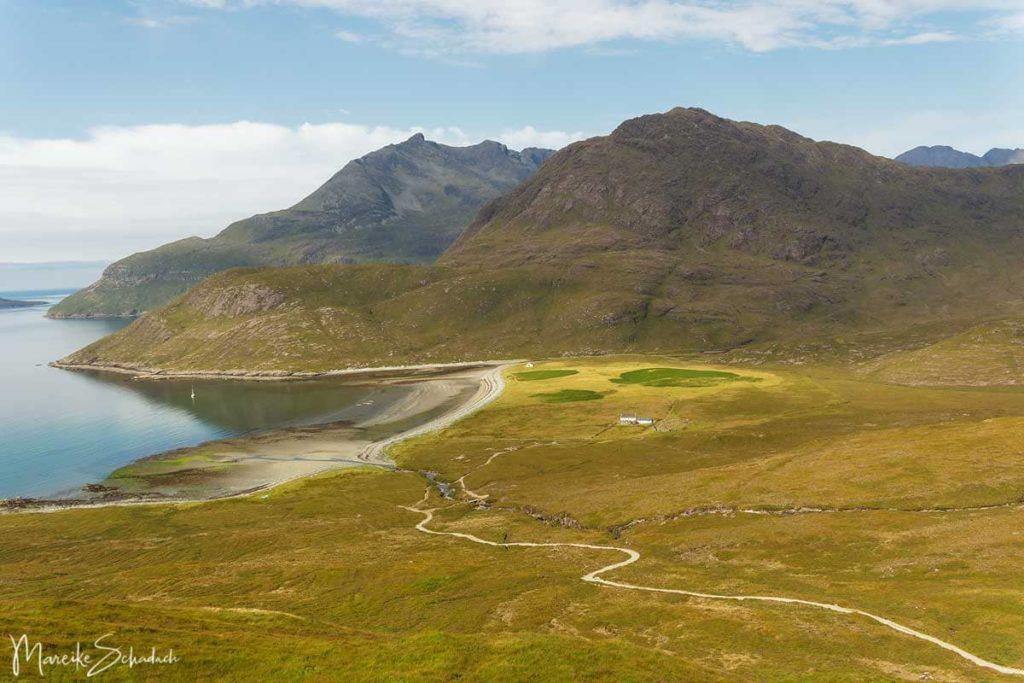 Das Herz der Cuillins und der Bad Step der Isle of Skye - Bucht Camasunary