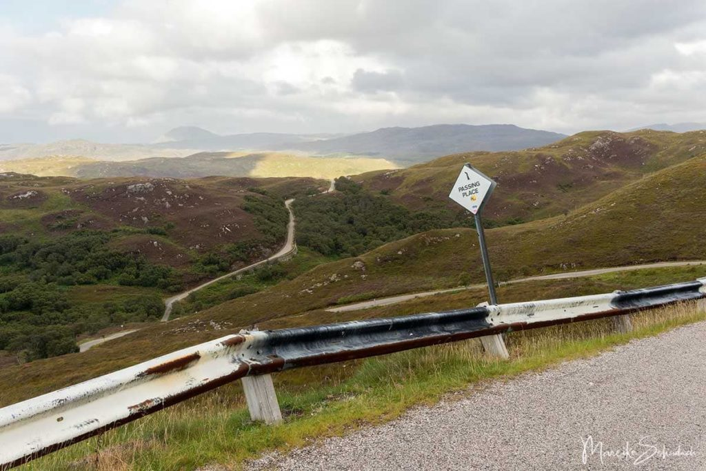 North Coast 500 – Roadtrip in Schottland / Scotland - single track road