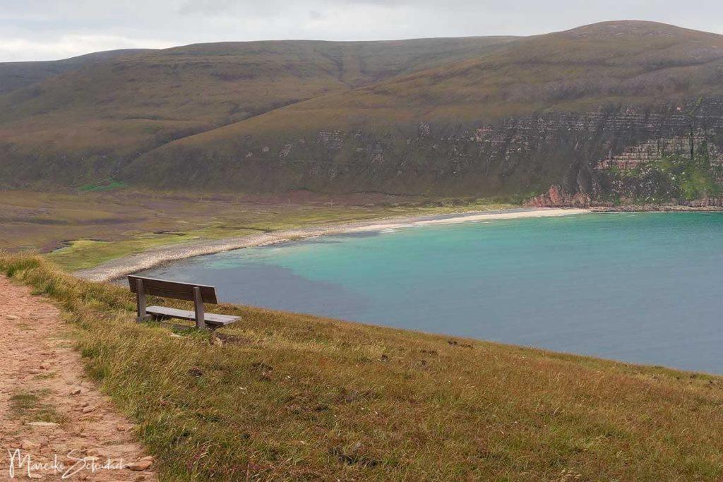 Blick auf Rackwick Bay - Wanderung zum Old Man of Hoy -  Orkneys