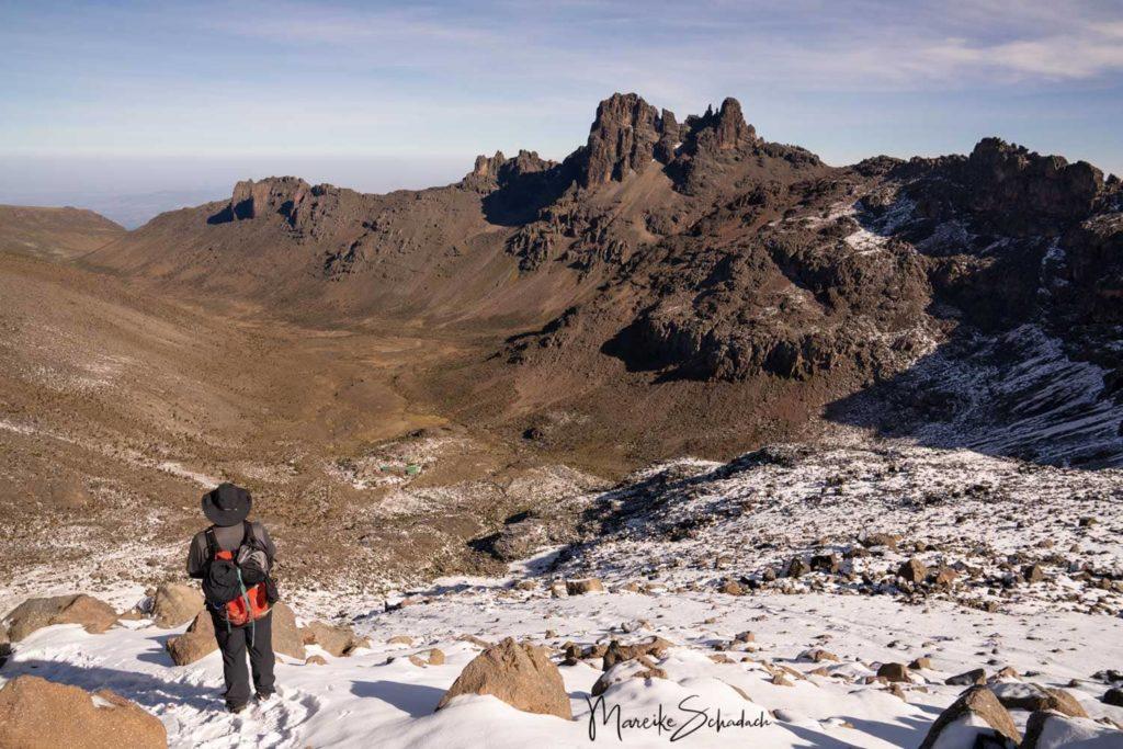 Mount Kenya - Chogoria-Sirimon Route zum Point Lenana