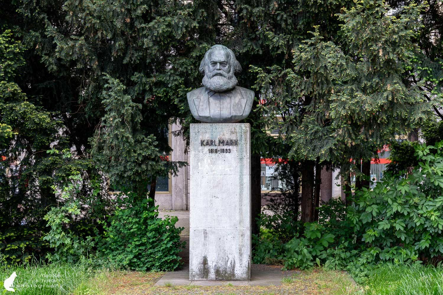 Karl-Marx-Büste in Berlin