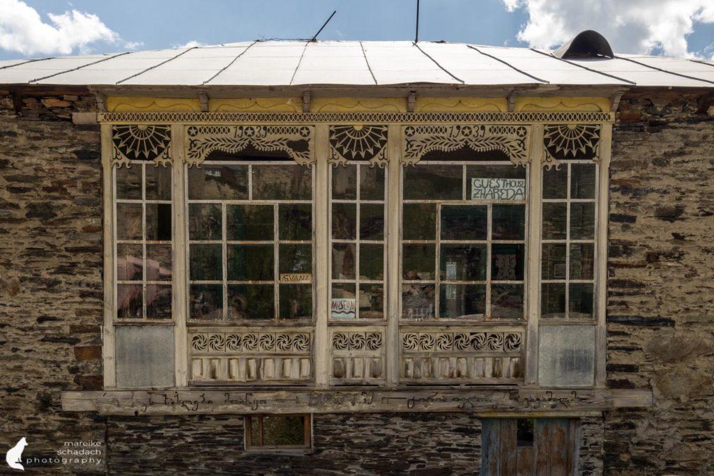 House in Ushguli in Svaneti, Georgia